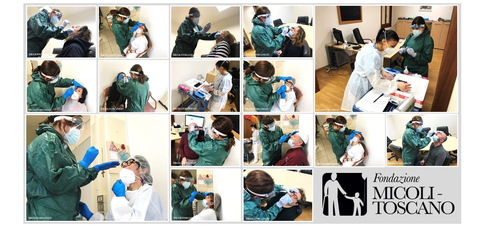 Tamponi: screening settimanale per il personale