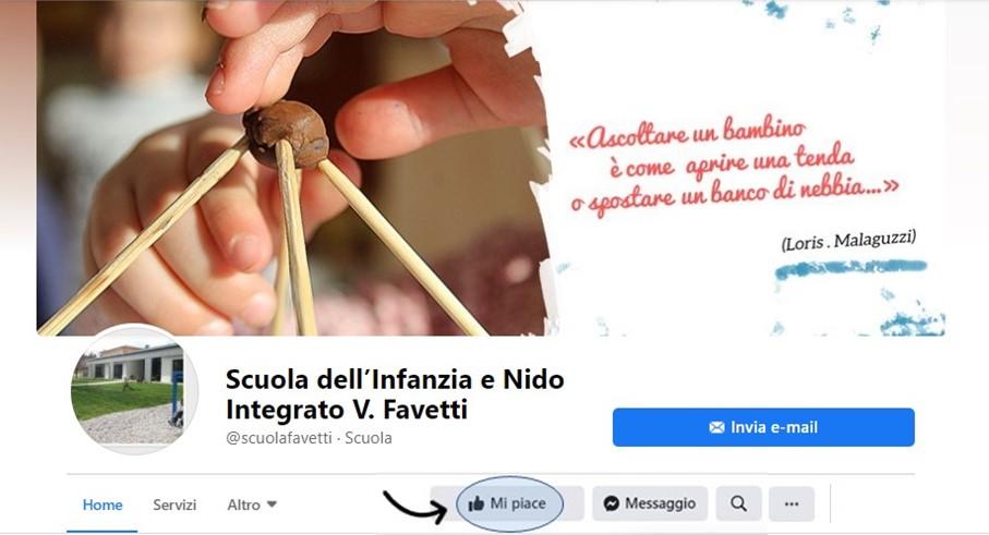 Scuola Favetti: profilo facebook attivo