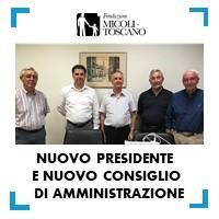 Nuovo Consiglio d'amministrazione e nuovo Presidente